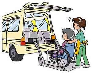 乗用車に車椅子を載せる