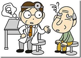 医師に相談する高齢者