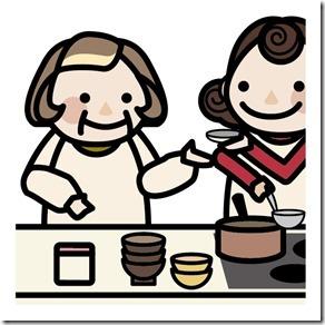 料理をするおばあちゃん
