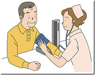 血圧を測る様子