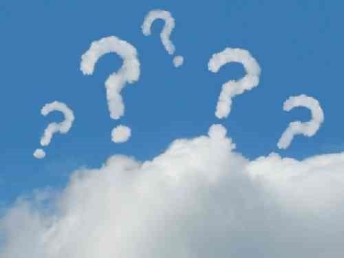 雲のクエッションマーク