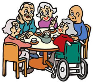施設の高齢者の食事