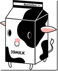 牛のマークの牛乳パック