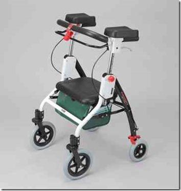 腰痛の人でも使える 肘置き型歩行車