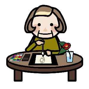 絵を描く高齢者