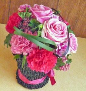 母の日は花籠