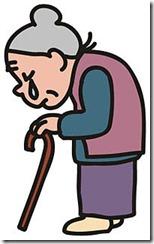 道に迷っている高齢者