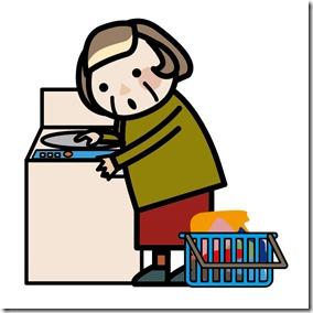 おばあちゃんの洗たく