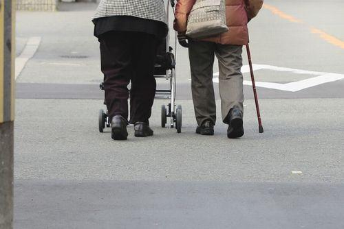 高齢者2人で買い物