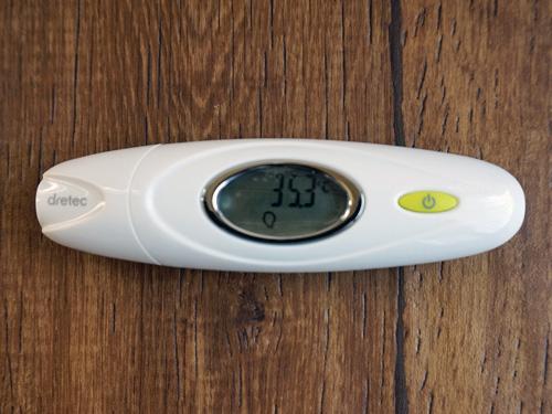額でも耳でも測れる体温計